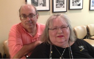 Artist Anne Ambrose and Jimmie Daniel at the artist reception on October 6th.