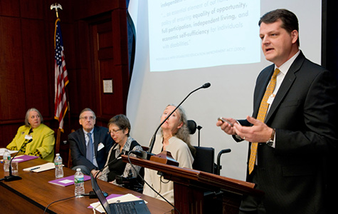 Erik Carter serves as expert speaker at Congressional briefing. Photo by Charles Votaw Photography.