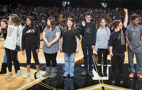 Next Steps at Vanderbilt students honored with the Perry Wallace Courage Award.