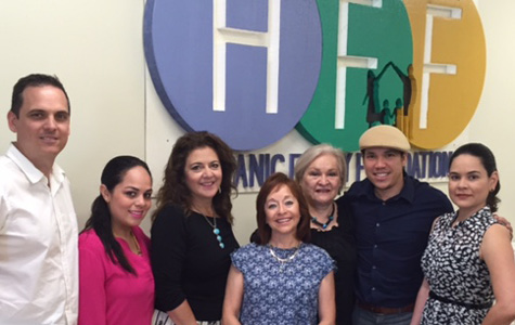 Left to right: Alexander Santana, Tennessee Disability Pathfinder Multicultural Program Coordinator; Monica Reyes; Cristina Allen, Hispanic Family Foundation Interim Director; Blanca Scott; Cecilia Melo-Romie, Tennessee Disability Pathfinder Statewide Spanish Outreach Coordinator; Leon Berrios; and Diana Perez.