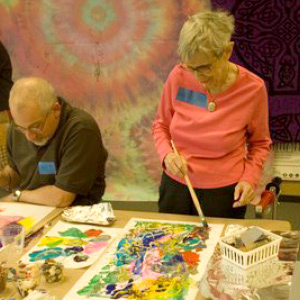 Mary Jane Swaney at a VKC art workshop.