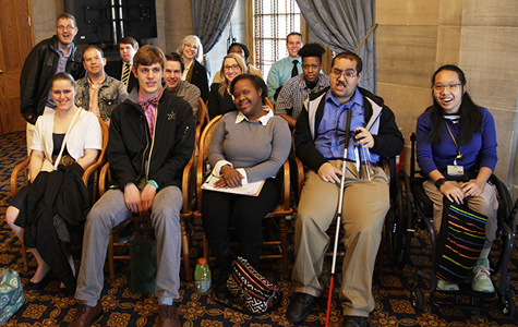 Next Steps at Vanderbilt students and graduates at Disability Day on the Hill.