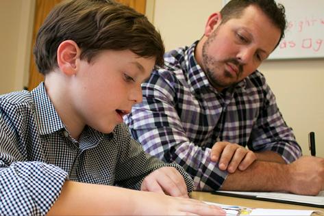 Student and tutor at Vanderbilt Kennedy Center Reading Clinic