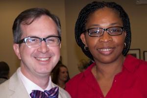 Tyler Reimschisel, M.D. and trainee