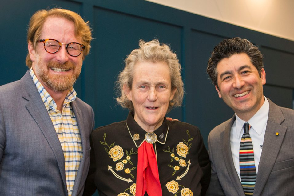 Jeff Neul, Temple Grandin, and Keivan Stassun at The Frist Center for Autism and Innovation's Envisioning the Future of Human Technology Conference