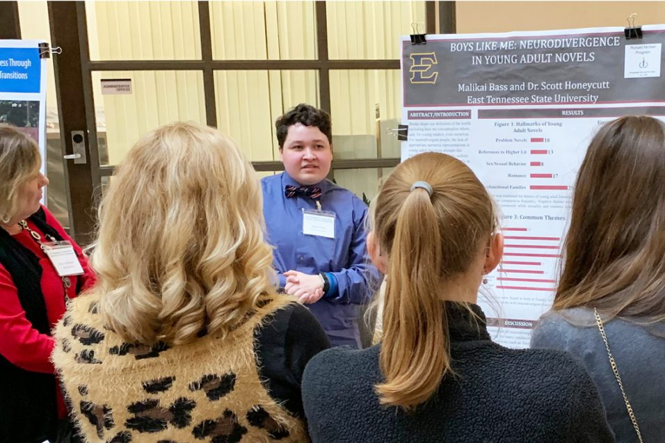 Malikai Bass presented the poster: Boys Like Me: Neurodivergence in Young Adult Novels at the 2019 Research and Implementation Symposium at Nurturing Developing Minds