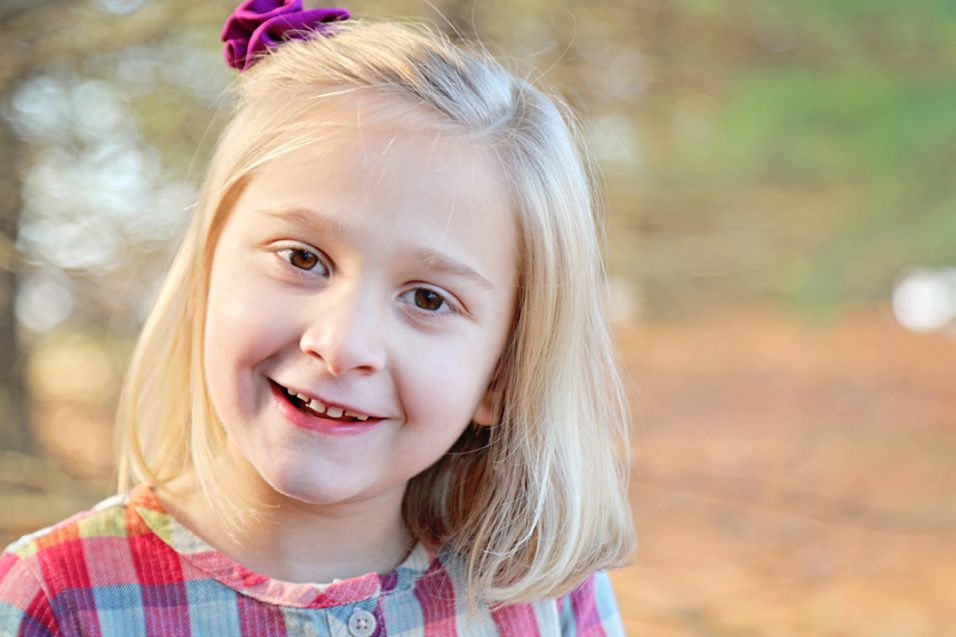 Young girl with Rett syndrome