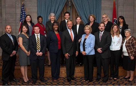 Governor Haslam (center front) with Tennessee Employment First Task Force members