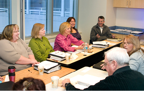 Photo of Volunteer Advocacy Partners meeting at Vanderbilt
