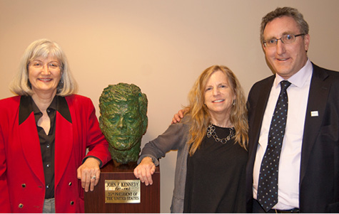 Elise McMillan, Elisabeth Dykens, and AUCD Executive Director Andy Imparato celebrate VKC 50th Anniversary Kick-Off.