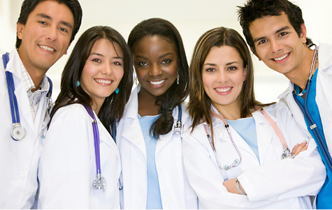 Stock photo of healthcare workers