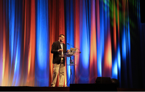 Dr. Erik Carter, keynote speaker at Partners in Education Conference. Photo by Rachael Jenkins.