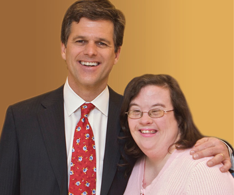 Dr. Tim Shriver with Nashville Special Olympian Portia Carnahan