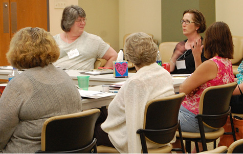 PSIP Conference participants share stories with one another during a Positive Adult Development (PAD) session.