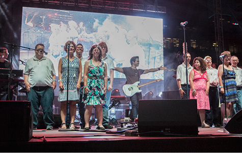Pictured top of page: ACM Lifting Lives Music Campers performing with County Music artist Hunter Hayes during the recent Special Olympics World Games in Los Angeles. Photo courtesy of Academy of Country Music Lifting Lives.