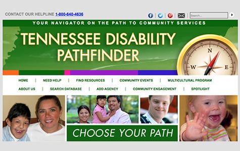 Screen shot of Pathfinder homepage