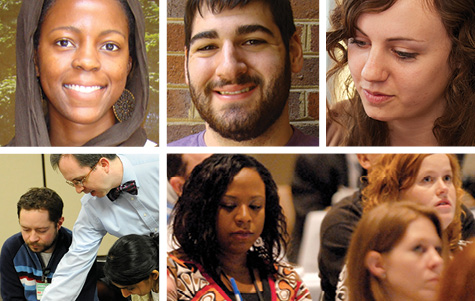 Photo collage of several LEND trainees