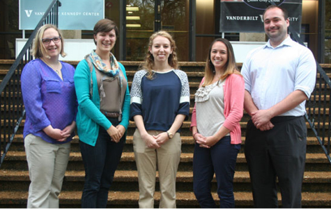 Nea Houchins-Juárez and Joe Lambert with graduate student case managers from the Behavior Analysis Clinic. (l to r) Houchins-Juárez, Sara Sheffler, Kate Tygielski, Gillian Cattey and Lambert.