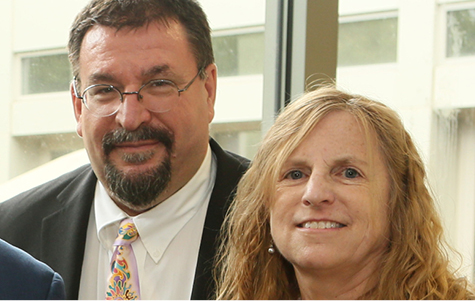 Pictured left to right: Karoly Mirnics and Elisabeth Dykens