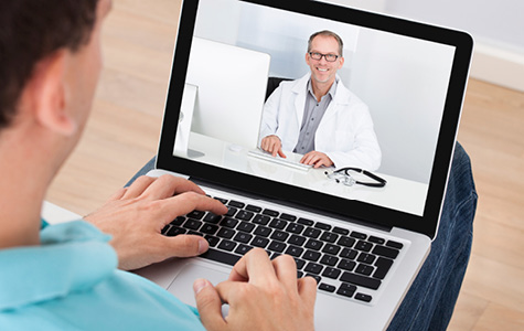 Photo of video chat with doctors