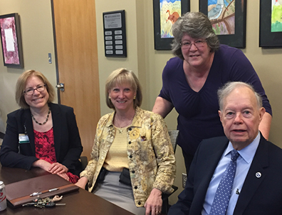Dr. Beth Malow, Jana Dreyzehner, Janet Shouse, and Dr. Tom Cheetham, collaborators on the IDD Health Care Toolkit and VKC UCEDD initiatives related to health and mental health.
