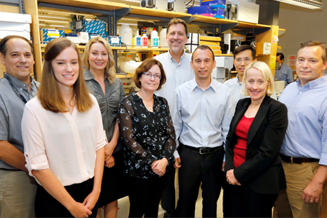 Researchers in the Vanderbilt Center for Neuroscience Drug Discovery who contributed to a study that could lead to the first effective treatment for Rett syndrome