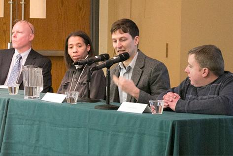 Rep. David Hawk, Rochelle Frazier-Beard, Nathan Fields, Evan Espey
