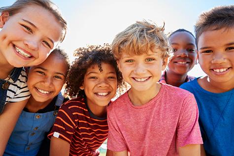 Cute kids outside