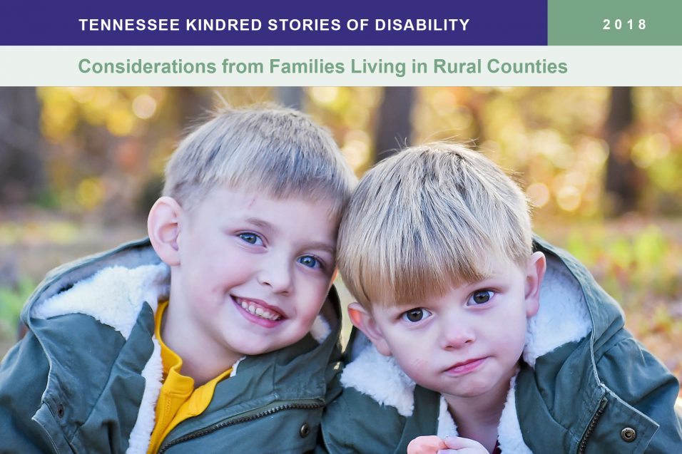 2018 Tennessee Kindred Stories of Disability booklet