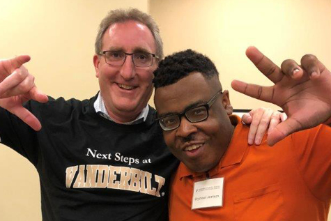 Pictured top of page: Andy Imparato and Bryshawn Jenison, CAC member and graduate of Next Steps at Vanderbilt.
