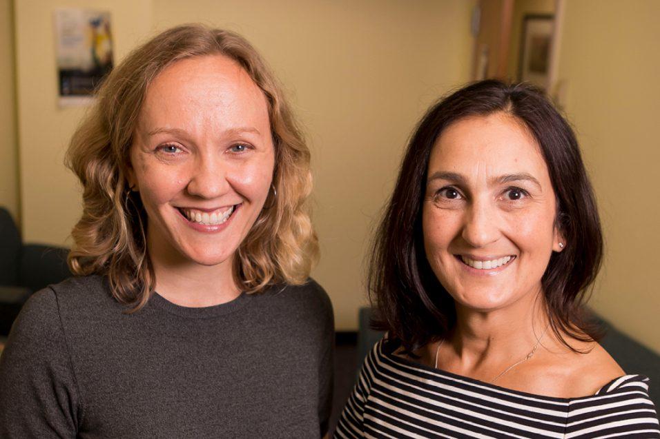 Dr. Weiflauf and Nina Harris