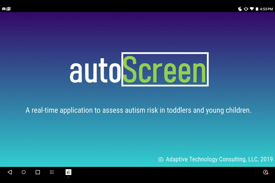 autoScreen app on iPhone screen