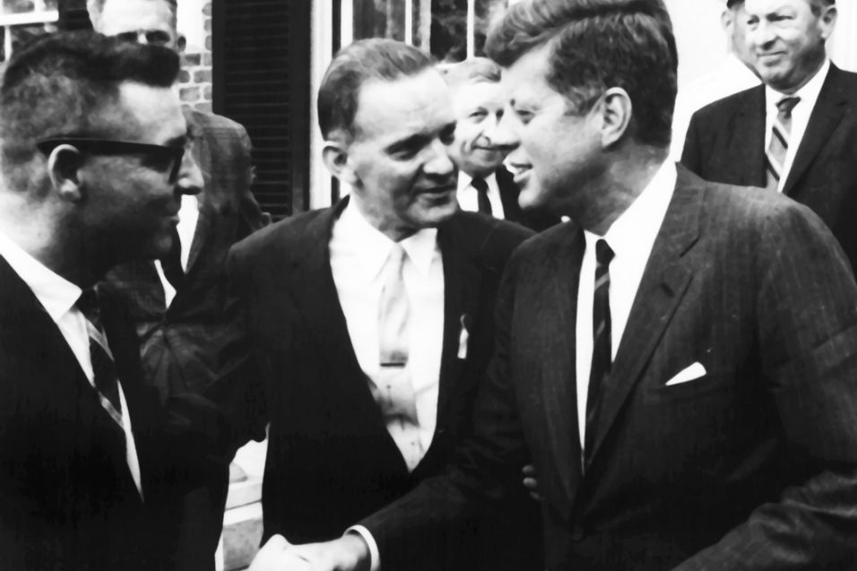 JFK visiting Peabody College 1962