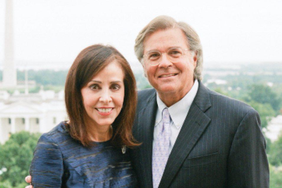 Donna and Jeffrey Eskind smiling